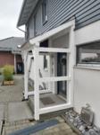 Vordach, Dacheindeckung mit Zink-Scharen, Festglaselement